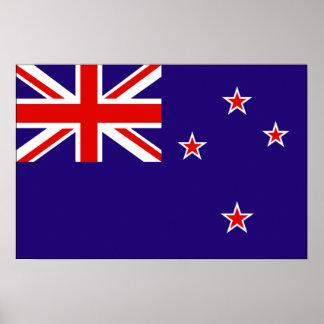 Drapeau de la Nouvelle Zélande Poster
