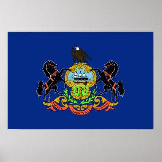 Drapeau de la Pennsylvanie Poster