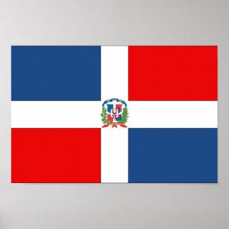Drapeau de la République Dominicaine Poster