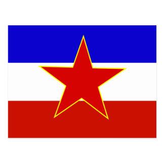 Drapeau de la Yougoslavie Cartes Postales