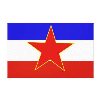 Drapeau de la Yougoslavie Toile Tendue