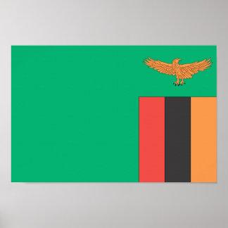 Drapeau de la Zambie Poster