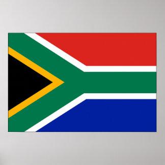 Drapeau de l'Afrique du Sud Poster