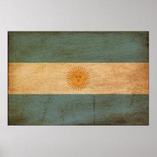 Drapeau de l'Argentine Poster