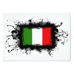 Drapeau de l'Italie Carton D'invitation 12,7 Cm X 17,78 Cm