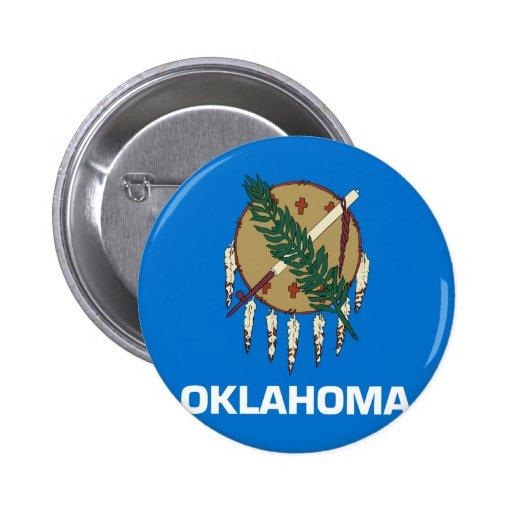 Drapeau de l'Oklahoma Badges Avec Agrafe