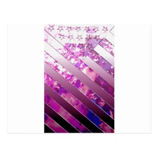 drapeau de mélange des USA (couleurs). Carte Postale
