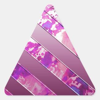 drapeau de mélange des USA (couleurs). Sticker Triangulaire