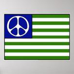 Drapeau de paix affiche