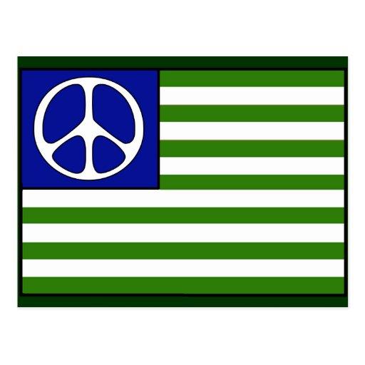 Drapeau de paix cartes postales