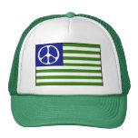 Drapeau de paix casquette de camionneur