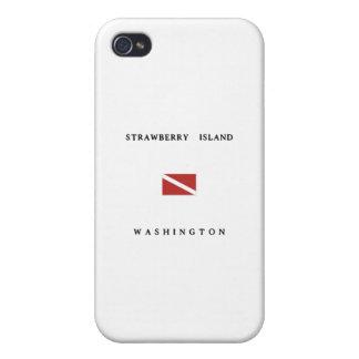 Drapeau de piqué de scaphandre de Washington d'île Étui iPhone 4