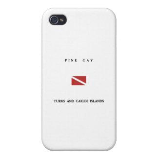Drapeau de piqué de scaphandre des Îles Turques et Étuis iPhone 4