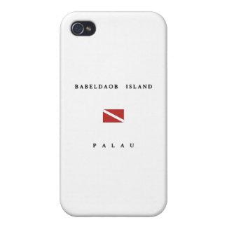 Drapeau de piqué de scaphandre des Palaos d'île de iPhone 4 Case