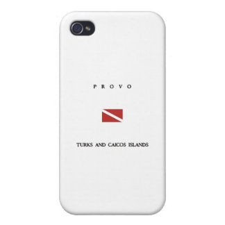 Drapeau de piqué de scaphandre d'îles de Provo Coque iPhone 4/4S