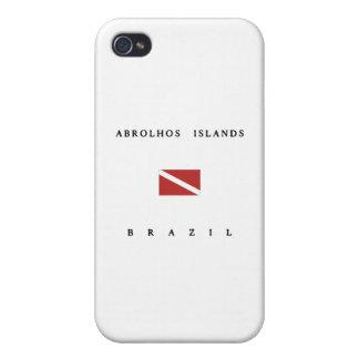 Drapeau de piqué de scaphandre du Brésil d'îles Étui iPhone 4
