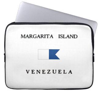 Drapeau de piqué du Venezuela d'île de margarita Housses Ordinateur Portable
