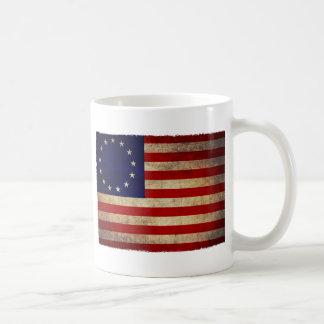 Drapeau de révolution des Etats-Unis Mug Blanc