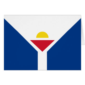 Drapeau de Saint Martin - Flag of Saint Martin Card