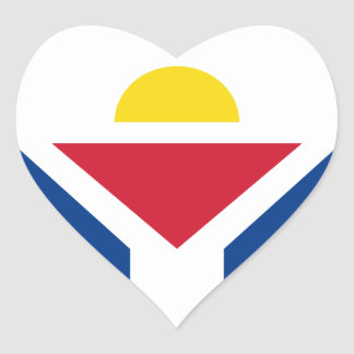 Drapeau de Saint Martin - Flag of Saint Martin Heart Sticker