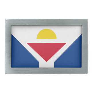 Drapeau de Saint Martin - Flag of Saint Martin Rectangular Belt Buckles