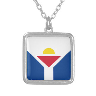 Drapeau de Saint Martin - Flag of Saint Martin Silver Plated Necklace