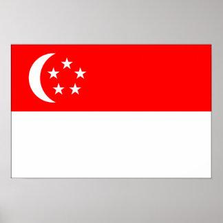 Drapeau de Singapour Poster
