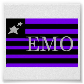 Drapeau d'Emo Posters