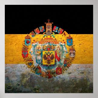 Drapeau d'empire russe poster