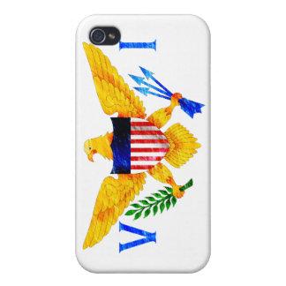 DRAPEAU DES ÎLES VIERGES AMÉRICAINES ÉTUIS iPhone 4