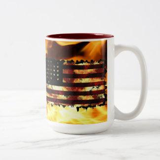 Drapeau des syndicats, guerre civile, étoiles et mug bicolore