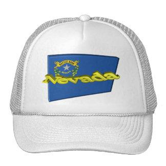 drapeau d'état de 3D Nevada Casquettes De Camionneur