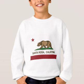 drapeau d'état de Santa Rosa la Californie Sweatshirt