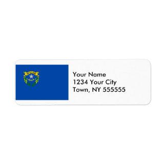 Drapeau d'état du Nevada Étiquettes D'adresse Retour