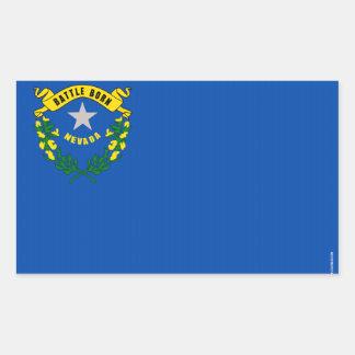 Drapeau d'état du Nevada Sticker En Rectangle