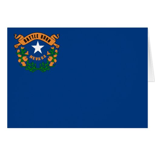 Drapeau d'état du Nevada Carte De Vœux