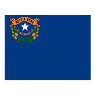 Drapeau d'état du Nevada Carte Postale