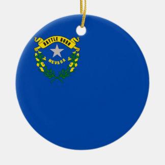 Drapeau d'état du Nevada Ornements De Noël