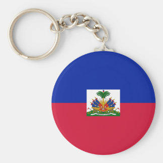 Drapeau d'Haïti - Flag of Haiti Basic Round Button Keychain