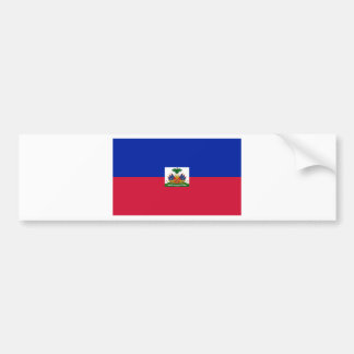 Drapeau d'Haïti - Flag of Haiti Bumper Sticker