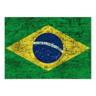 drapeau du Brésil Carton D'invitation 12,7 Cm X 17,78 Cm