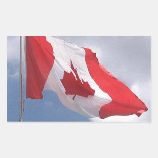 Drapeau du Canada Autocollant En Rectangle