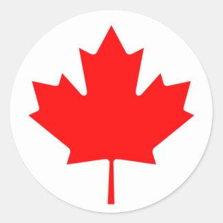 Drapeau du Canada Sticker Rond