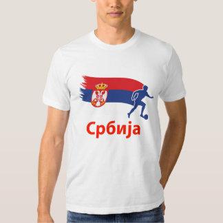 Drapeau du football de la Serbie Tee-shirt