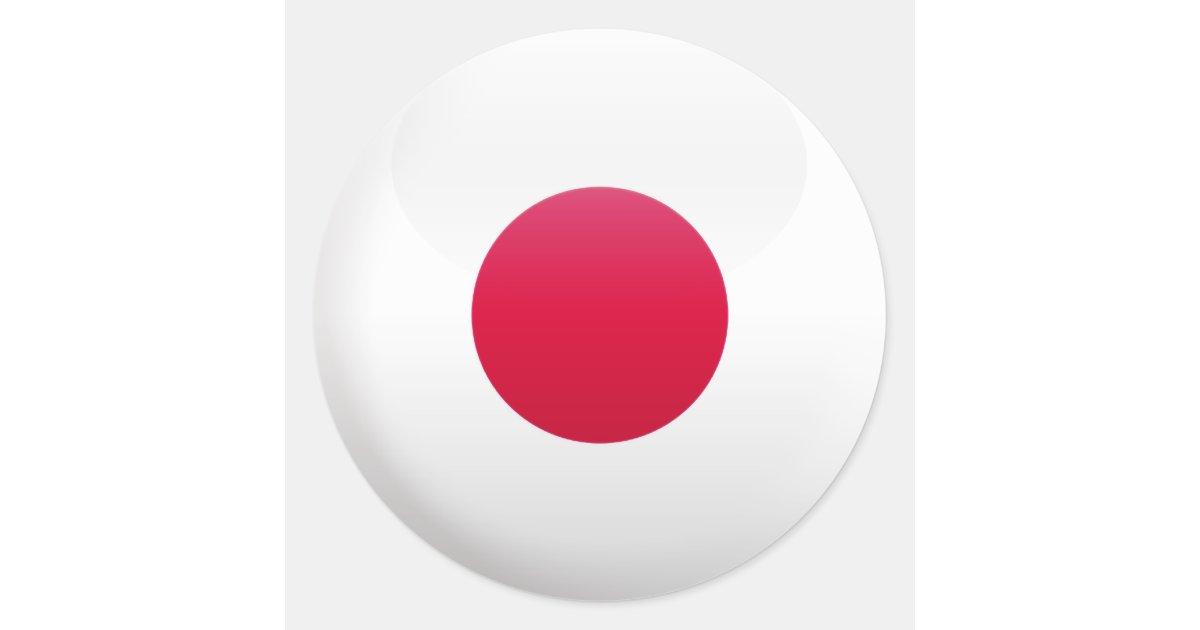 Drapeau du japon sticker rond zazzle - Drapeau du japon a colorier ...