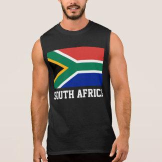 Drapeau du monde de l'Afrique du Sud T-shirts Sans Manches