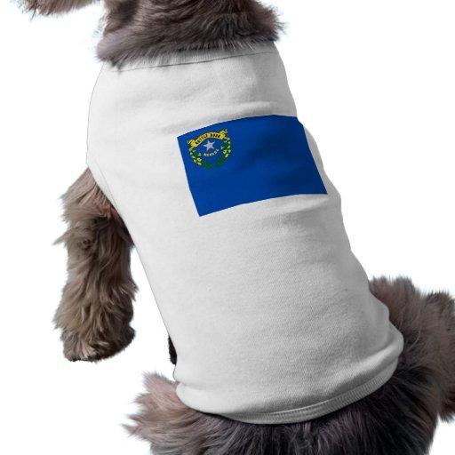 Drapeau du Nevada Tee-shirt Pour Animal Domestique
