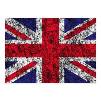 drapeau du Royaume-Uni Carton D'invitation 12,7 Cm X 17,78 Cm