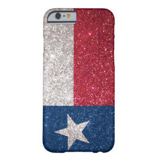Drapeau du Texas de scintillement de Faux Coque iPhone 6 Barely There