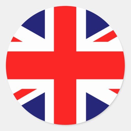 drapeau d 39 union jack les anglais sticker rond zazzle. Black Bedroom Furniture Sets. Home Design Ideas